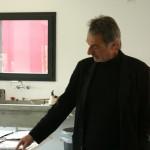 Frederic Amat al seu estudi. Fotografia: Carles Bárcena