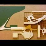 Centro de Cálculo Olivetti en Rho, Milán. Le Corbusier, 1962. Planta con expresión de la estructura de los laboratorios. (Historiaenobres: Alex Pié, Roser Pozo, Elena Rull, Jordi Tomassa, Carlos Wendt, Gerard Altarriba)