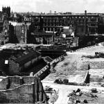 Devastació de l'emplaçament del Barbican pels bombardejos de la Segona Guerra Mundial