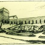 La muralla romana de Tarragona, objeto de un proyecto de Jeroni Martorell, e intervenida entre 1931 y 1937, recuperando así un carácter paisajístico y público. (Archivo Rafael Torres Márquez)
