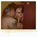Ferran Amat i Achille Castiglioni a la Sala Vinçon - 1995. Foto: Juli Capella