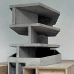 Maqueta estructural de la one wall house de Christian Kerez