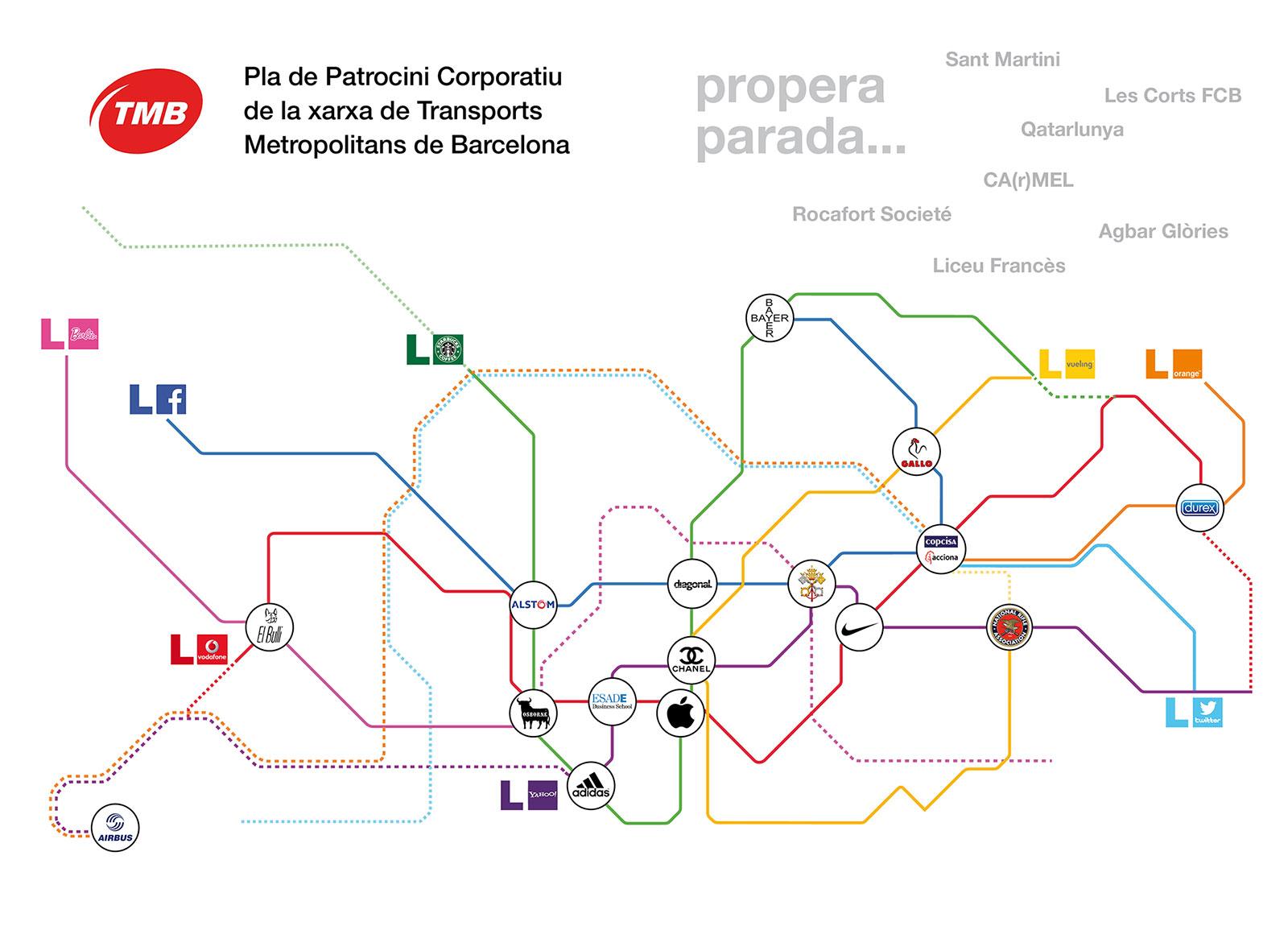 revista diagonal 35 - Desviacions: Patrocini corporatiu metro Barcelona