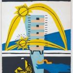 """Le Corbusier, litografía """"La Maison fille du Soleil"""", en Le Poème de l'angle droit (1955), p. 69. © FLC"""