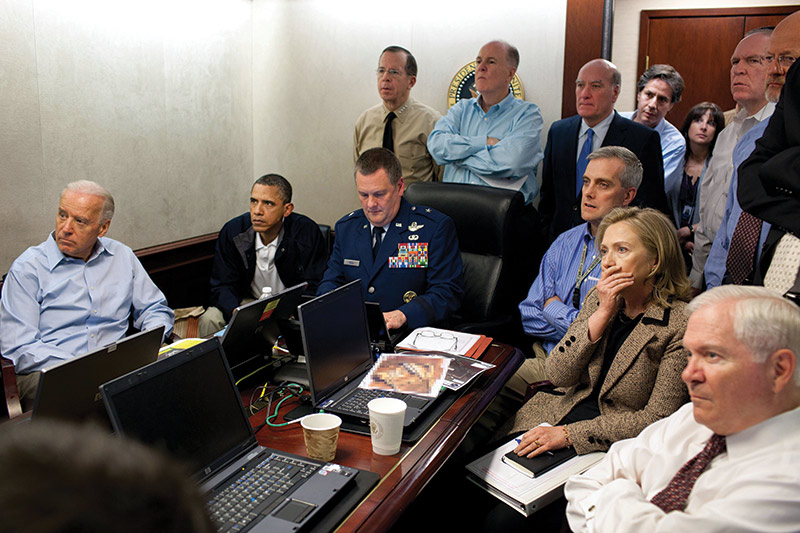 Waiting for news on Bin Laden
