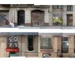 Alçats abatuts d'un carrer del Raval nord que ha perdut progressivament la seva activitat en planta baixa.