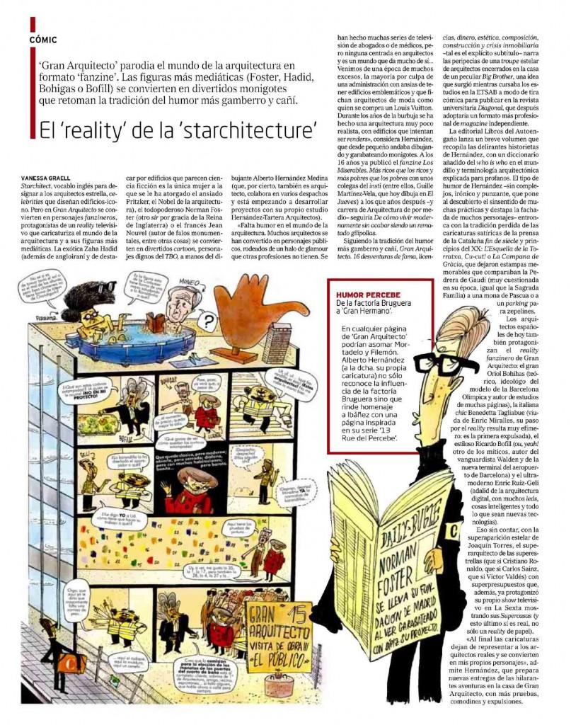 """El Mundo Tendències """"El Reality de la Starchitecture""""- Gran Arquitecto - Alberto Hernandez - Revista diagonal"""