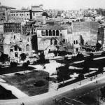 Foros de Trajano y Augusto tras los derribos, 1932.