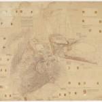 Plano de situación de la intervención paisajística en el entorno de la Acrópolis de Atenas, 1954-1958. Dimi-tris Pikionis. ANA-67-55-38. (Fuente: Archivo Dimitris Pikionis, Benaki Museum Athens)
