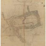 Plano de un tramo del final del camino de subida a la Acrópolis, 1954-1958. Dimitris Pikionis. ANA- 67-55-36. (Fuente: Archivo Dimitris Pikionis, Benaki Museum Athens)