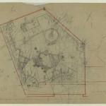 Plano de situación de la Casa-estudio del escultor Efthymiadou, 1949. Dimitris Pikionis. ANA-67-24-01. (Fuente: Archivo Dimitris Pikionis, Benaki Museum Athens)