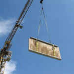 Bearth&Deplazes - Gantenbeim - Prefabricated elements were transported to the project site and installed using a crane